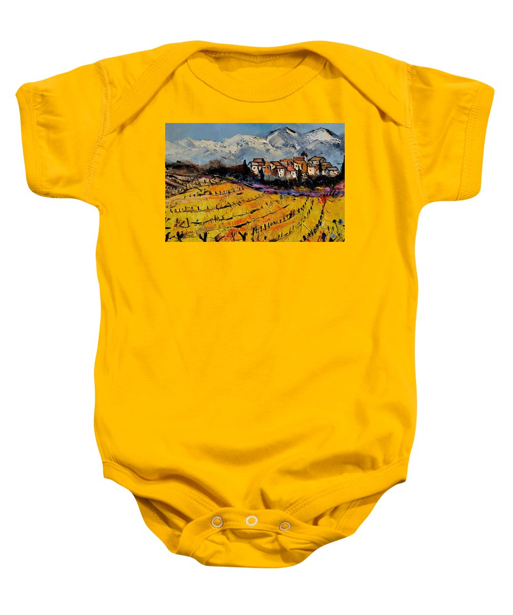 Landscape Baby Onesie featuring the painting Provence by Pol Ledent