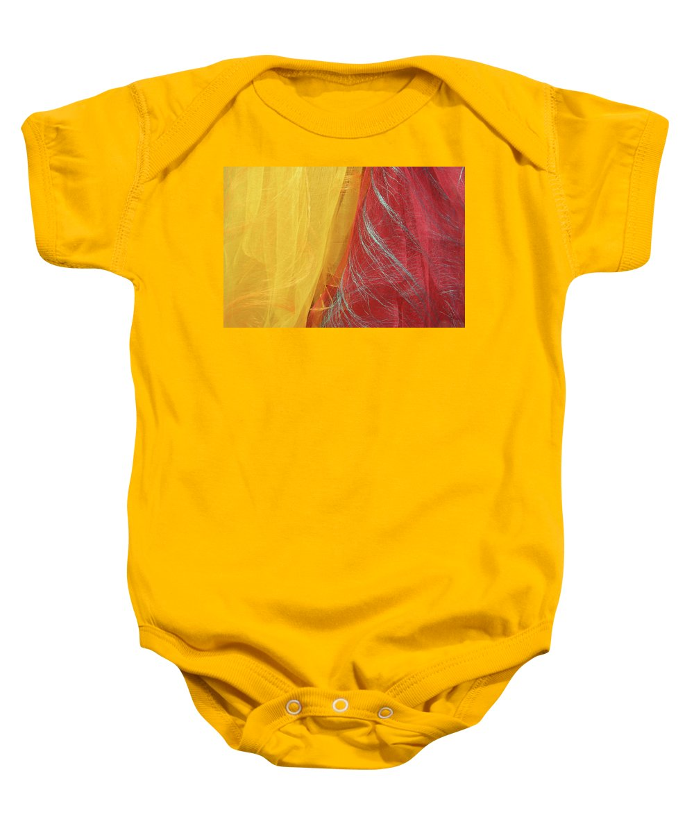 Scarves Baby Onesie featuring the photograph 2 Scarves by Cora Wandel
