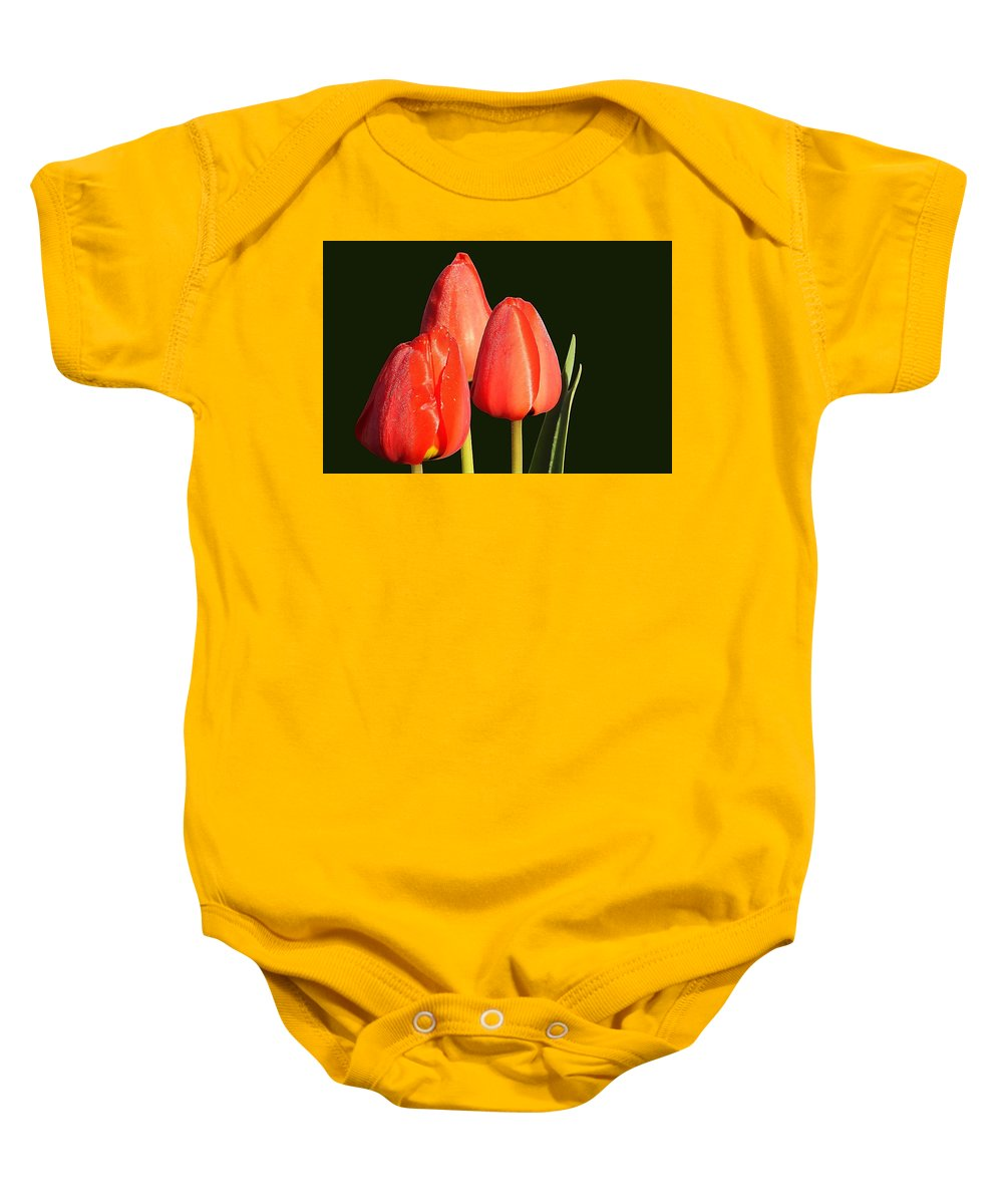 Flower Baby Onesie featuring the photograph Tulips by FL collection