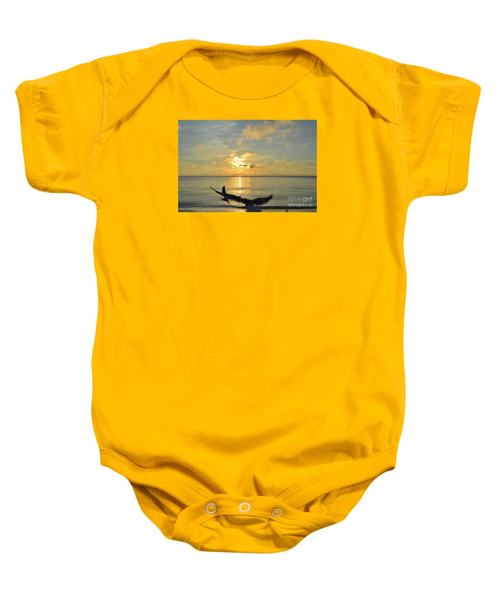 Naturaleza Baby Onesie featuring the photograph Alas De Amanecer by Lenin Caraballo