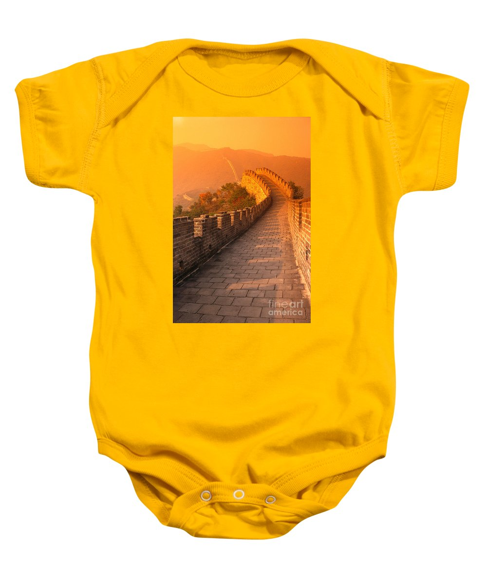 Asian Art Baby Onesie featuring the photograph China, Mu Tian Yu by Gloria & Richard Maschmeyer - Printscapes