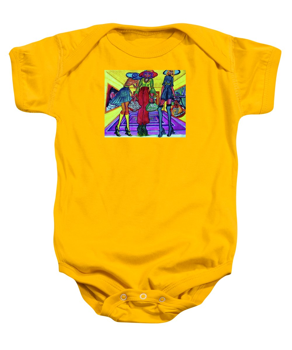 Afternoon By Pablo - Full Baby Onesie featuring the painting Kunsthaus by Nila Poduschco