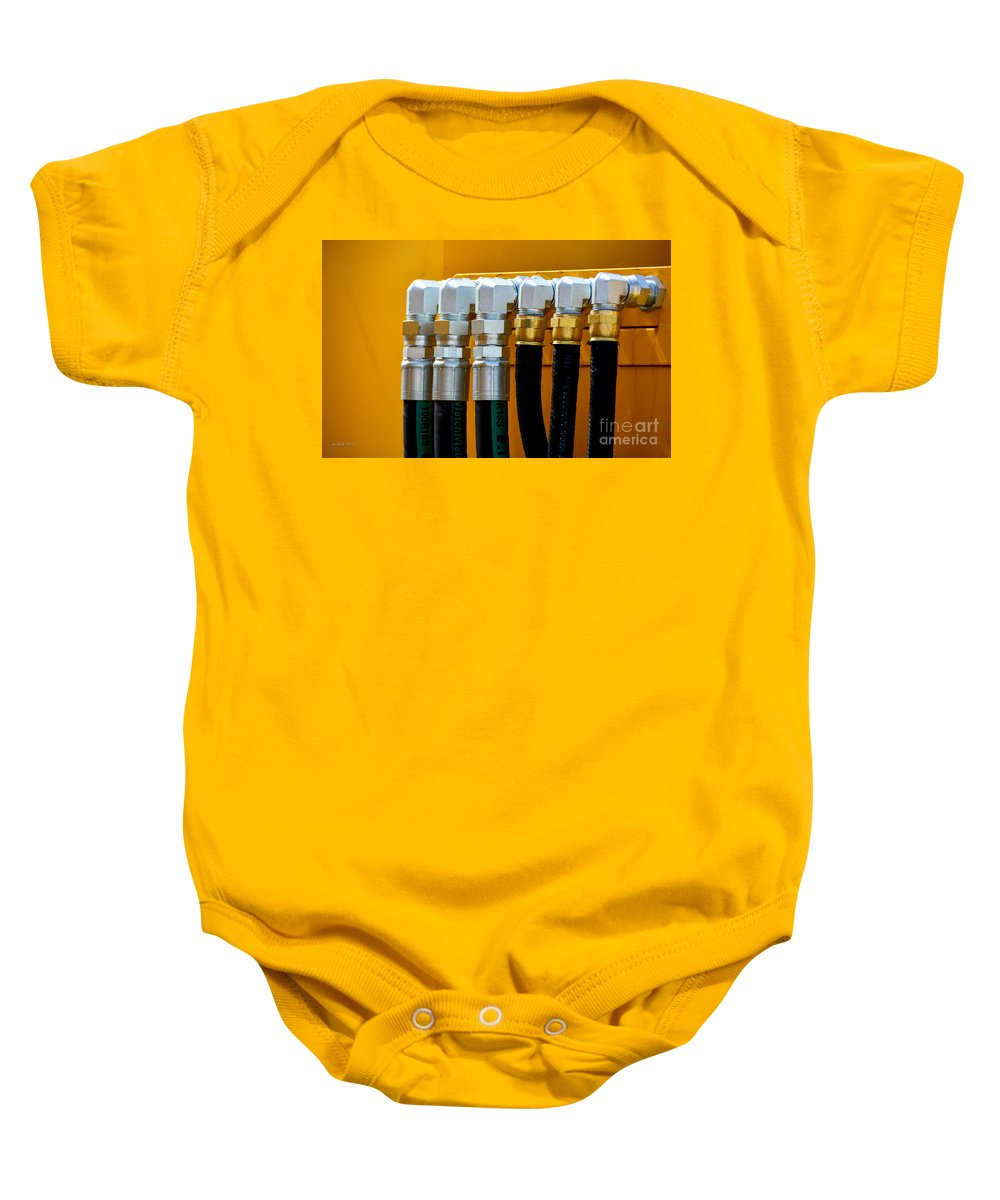South Dakota Baby Onesie featuring the photograph 3 Silver 3 Gold by M Dale