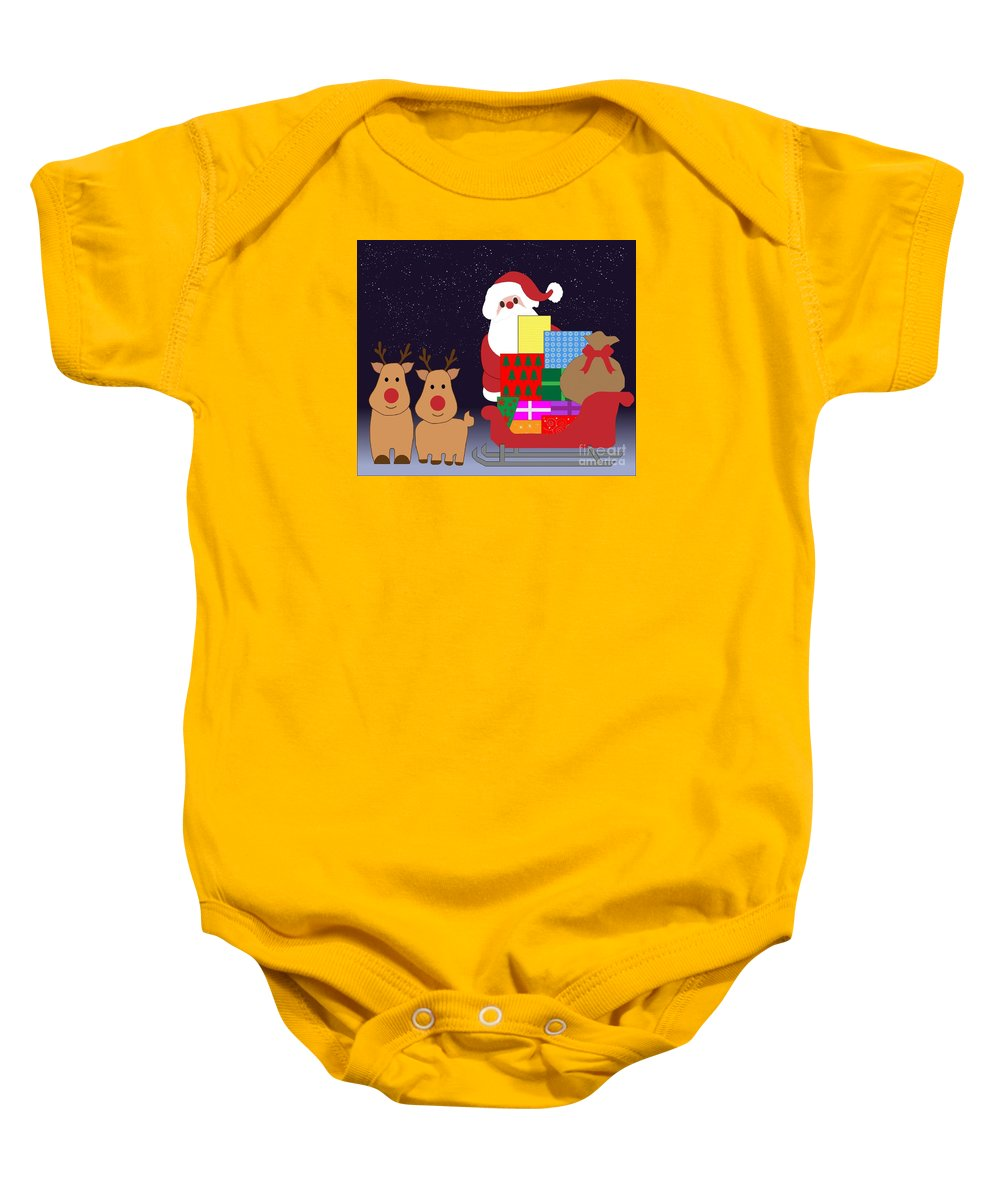 Witchcraft Baby Onesie featuring the digital art Christmas by Frederick Holiday