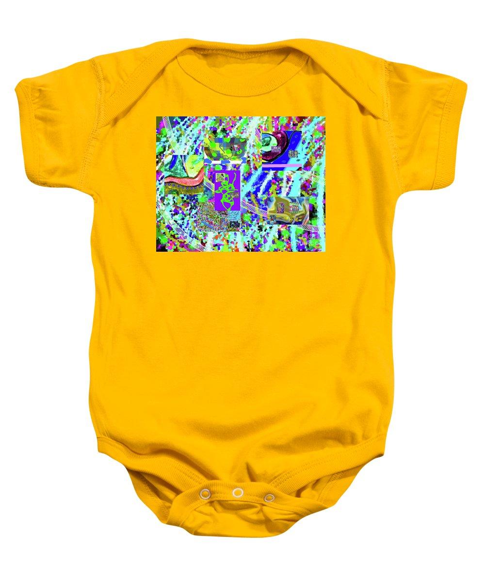 Walter Paul Bebirian Baby Onesie featuring the digital art 4-12-2015cabcdefghijklm by Walter Paul Bebirian
