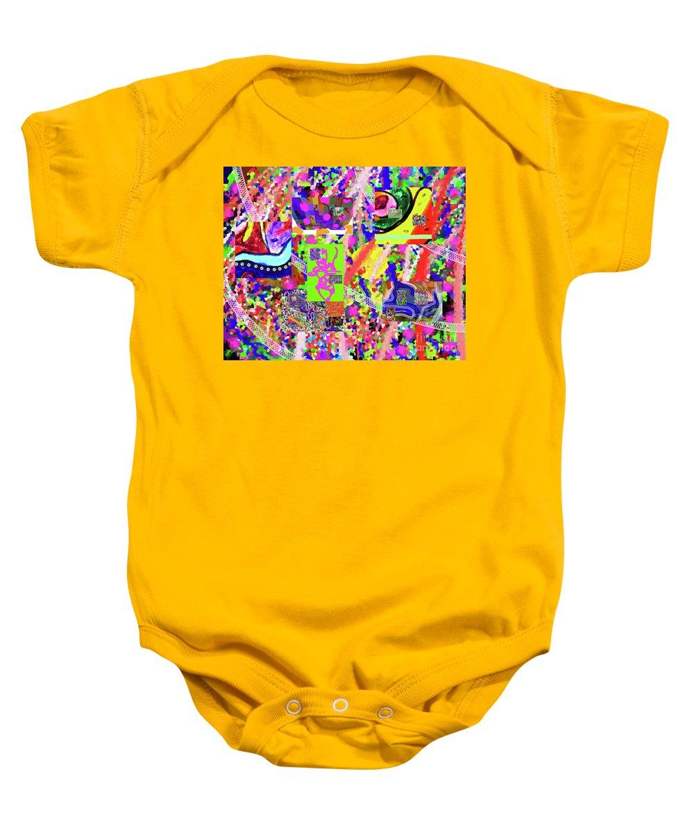 Walter Paul Bebirian Baby Onesie featuring the digital art 4-12-2015cabcdefghijklmnopqrtuvwxyzabcdef by Walter Paul Bebirian