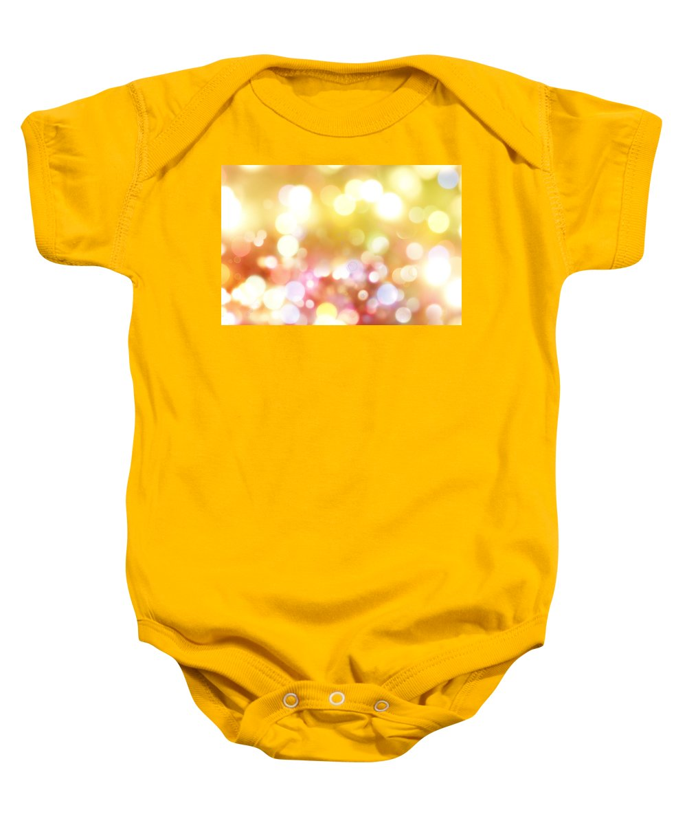 Bright Lights Baby Onesie featuring the digital art Abstract Background by Les Cunliffe