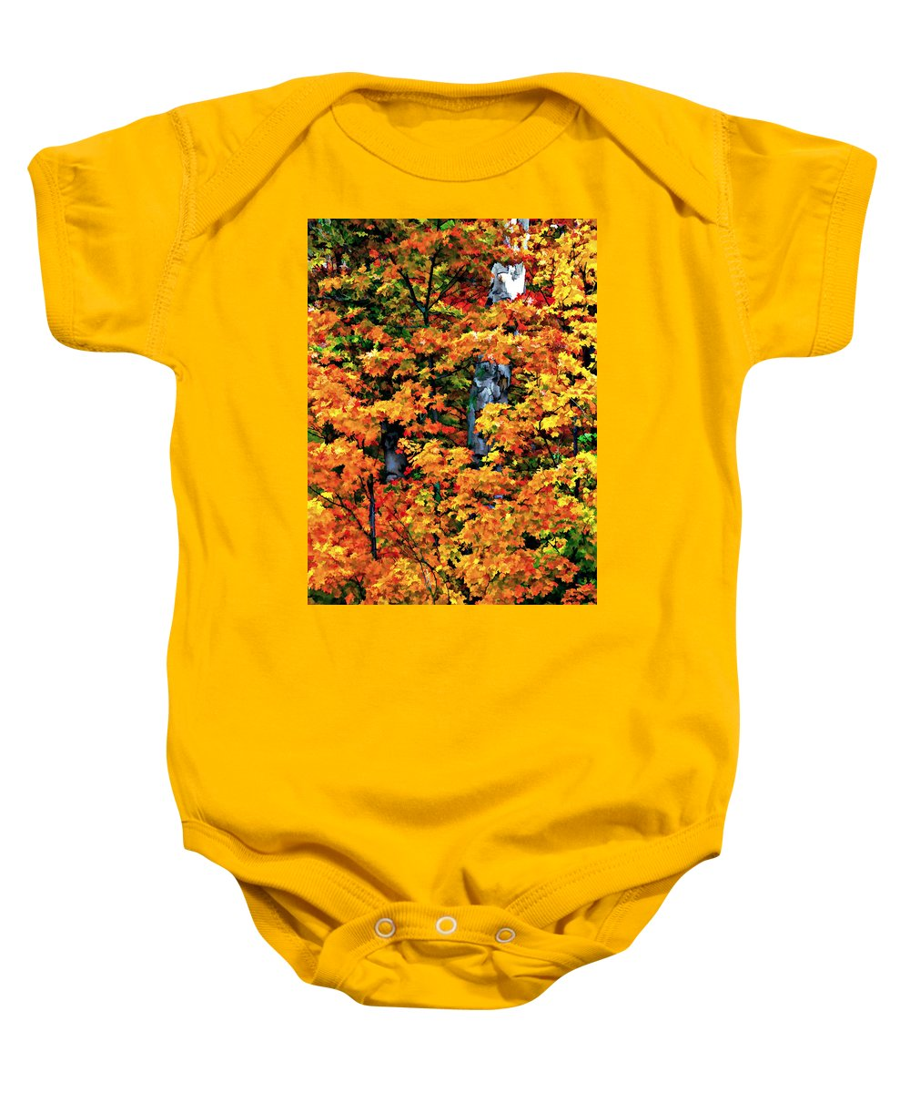 Trees Baby Onesie featuring the photograph A Giant Passes by Steve Harrington