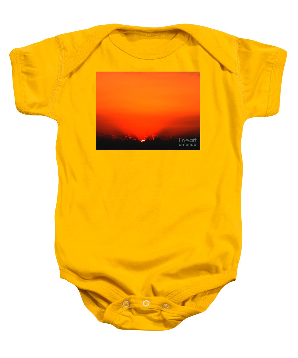 Sun Baby Onesie featuring the photograph A New Day by Amanda Barcon