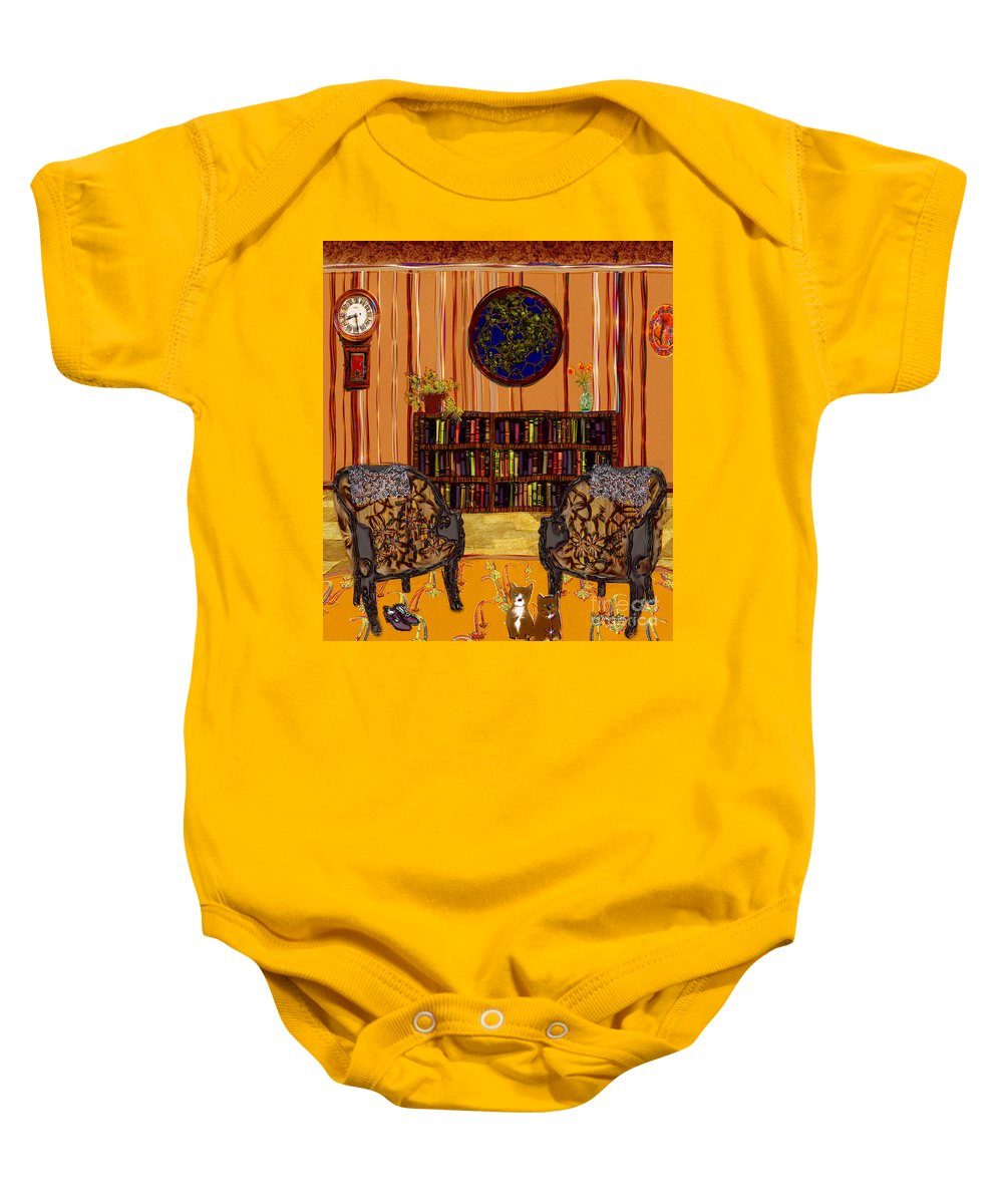 Folk Art Baby Onesie featuring the painting A Victorian Horror by RC deWinter