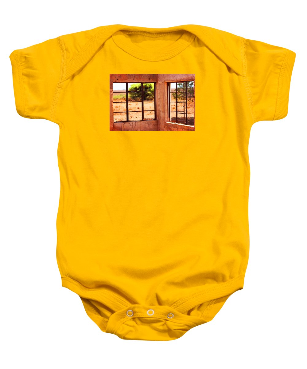 Broken Baby Onesie featuring the photograph A View From An Abandoned House by Elton Oliver