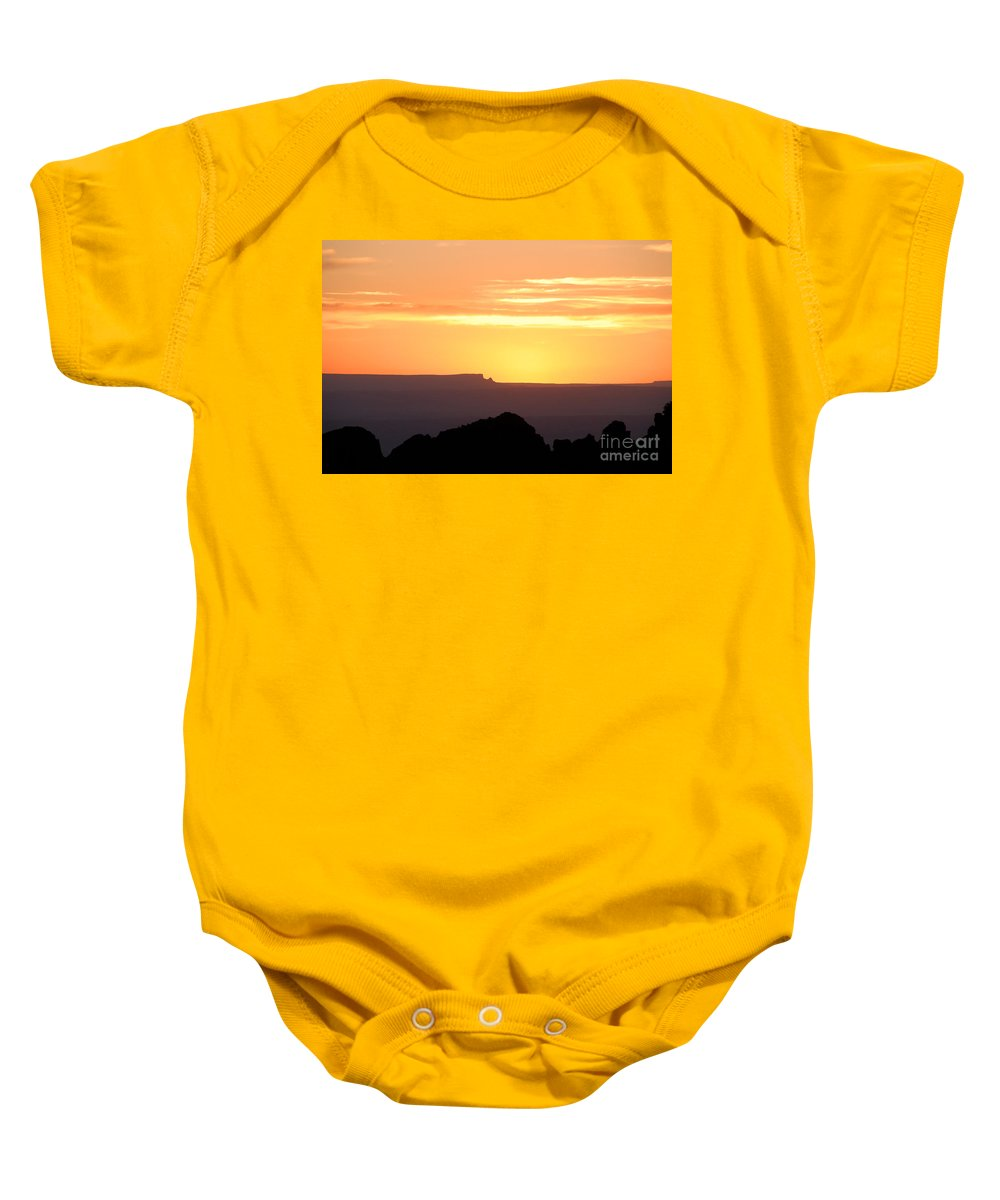 Western Us Baby Onesie featuring the photograph A Western Sunset by David Lee Thompson