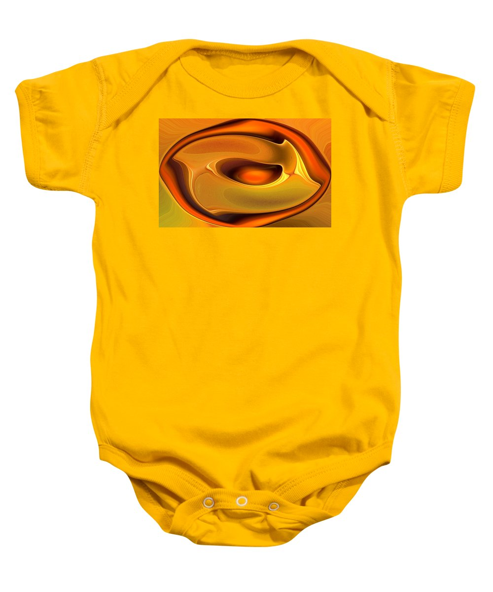 Abstract Baby Onesie featuring the digital art Abstrac8-15-09 by David Lane