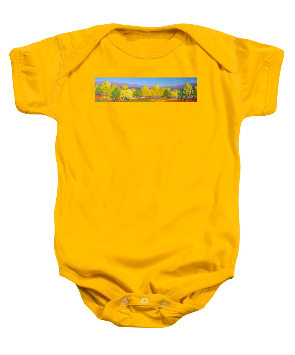 Abstract Baby Onesie featuring the painting Abstract 02 by Richard T Pranke