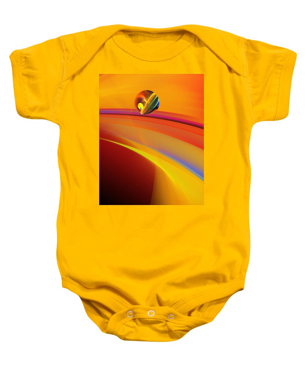 Abstract Baby Onesie featuring the digital art Abstract 052311 by David Lane