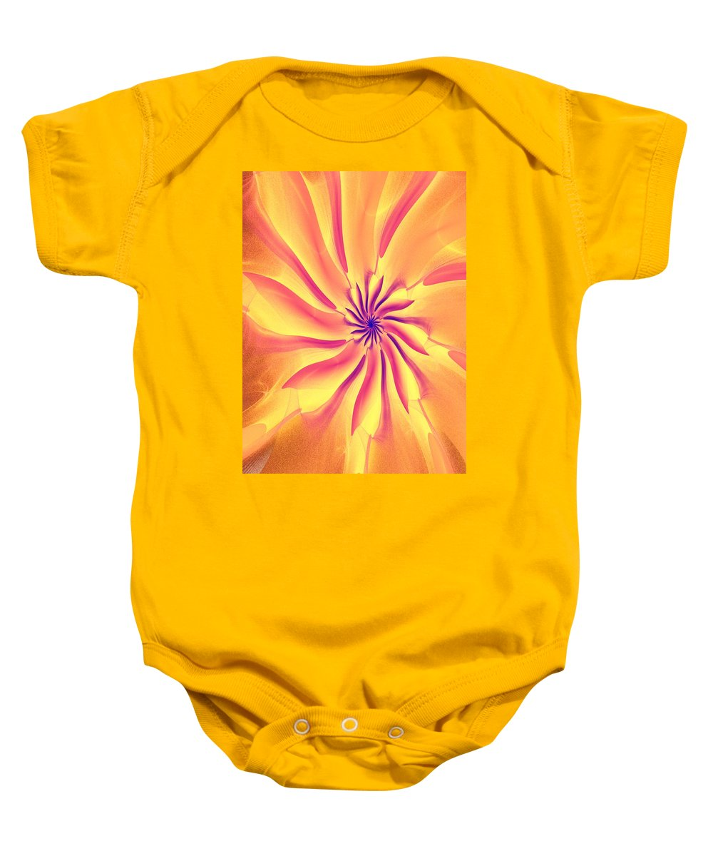 Fine Art Baby Onesie featuring the digital art Abstract 090510 by David Lane