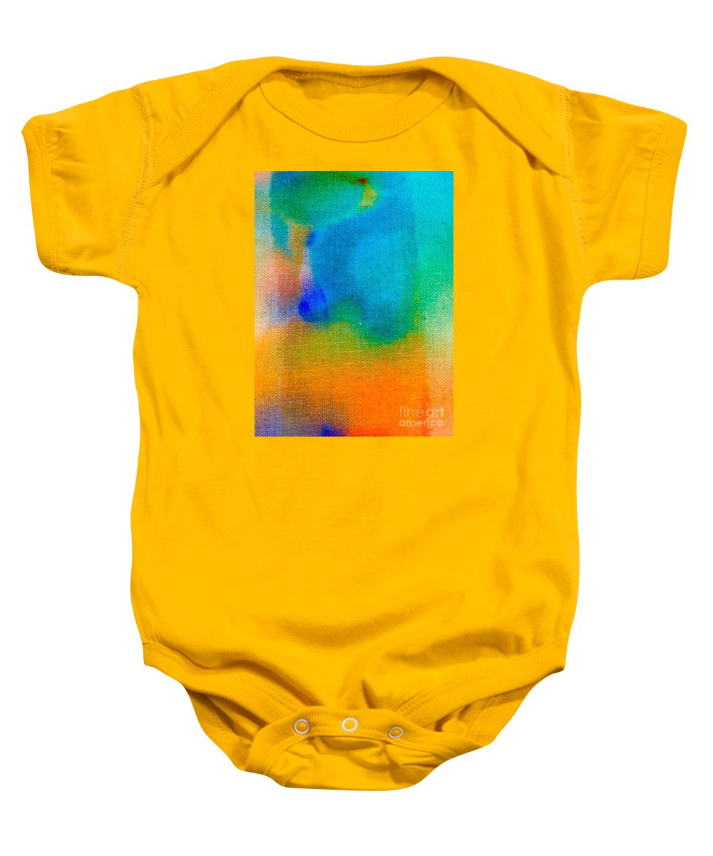 Abstract Baby Onesie featuring the painting Abstract 5 by Cristina Stefan