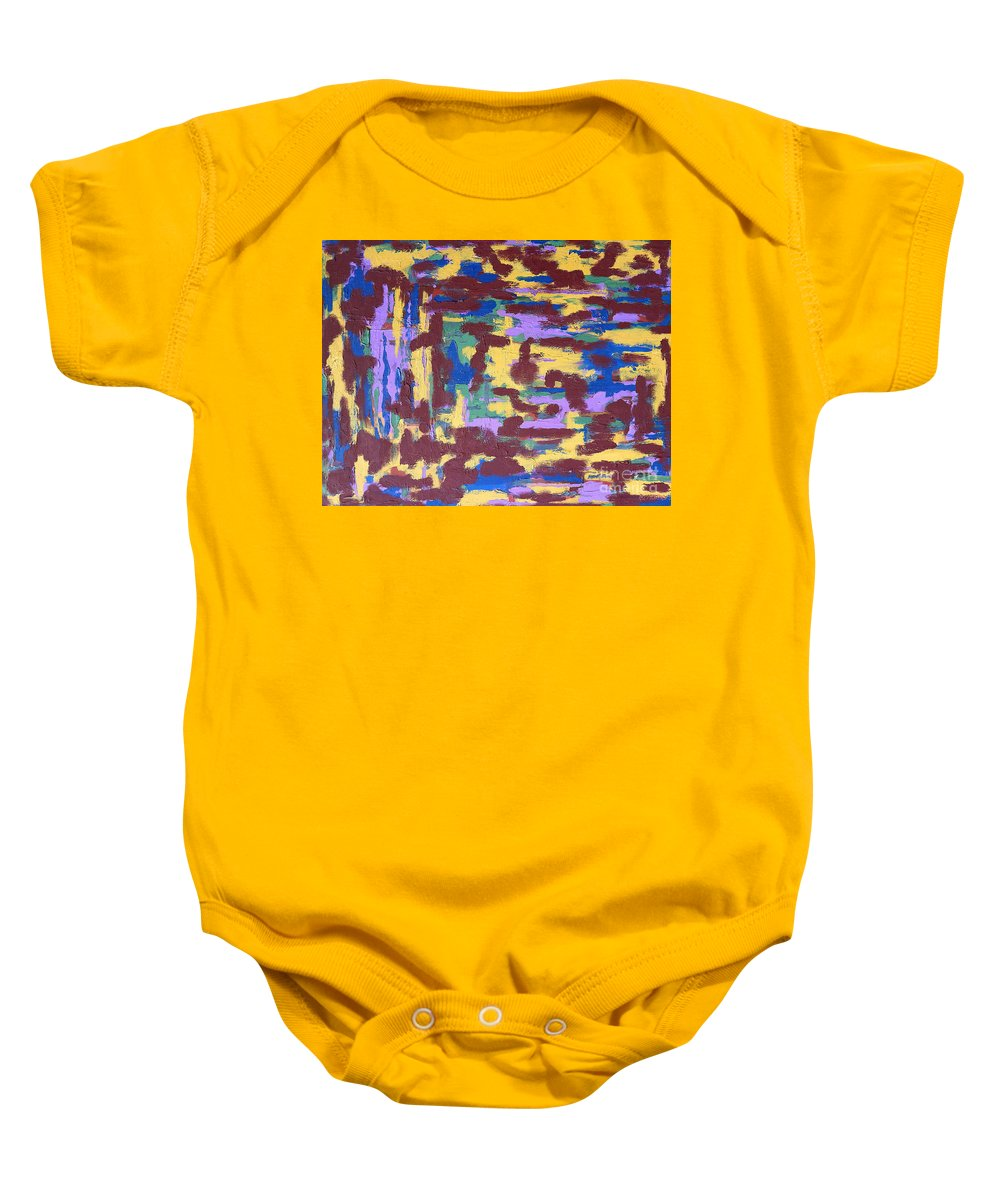 Abstract Baby Onesie featuring the painting Abstract 50 by Patrick J Murphy