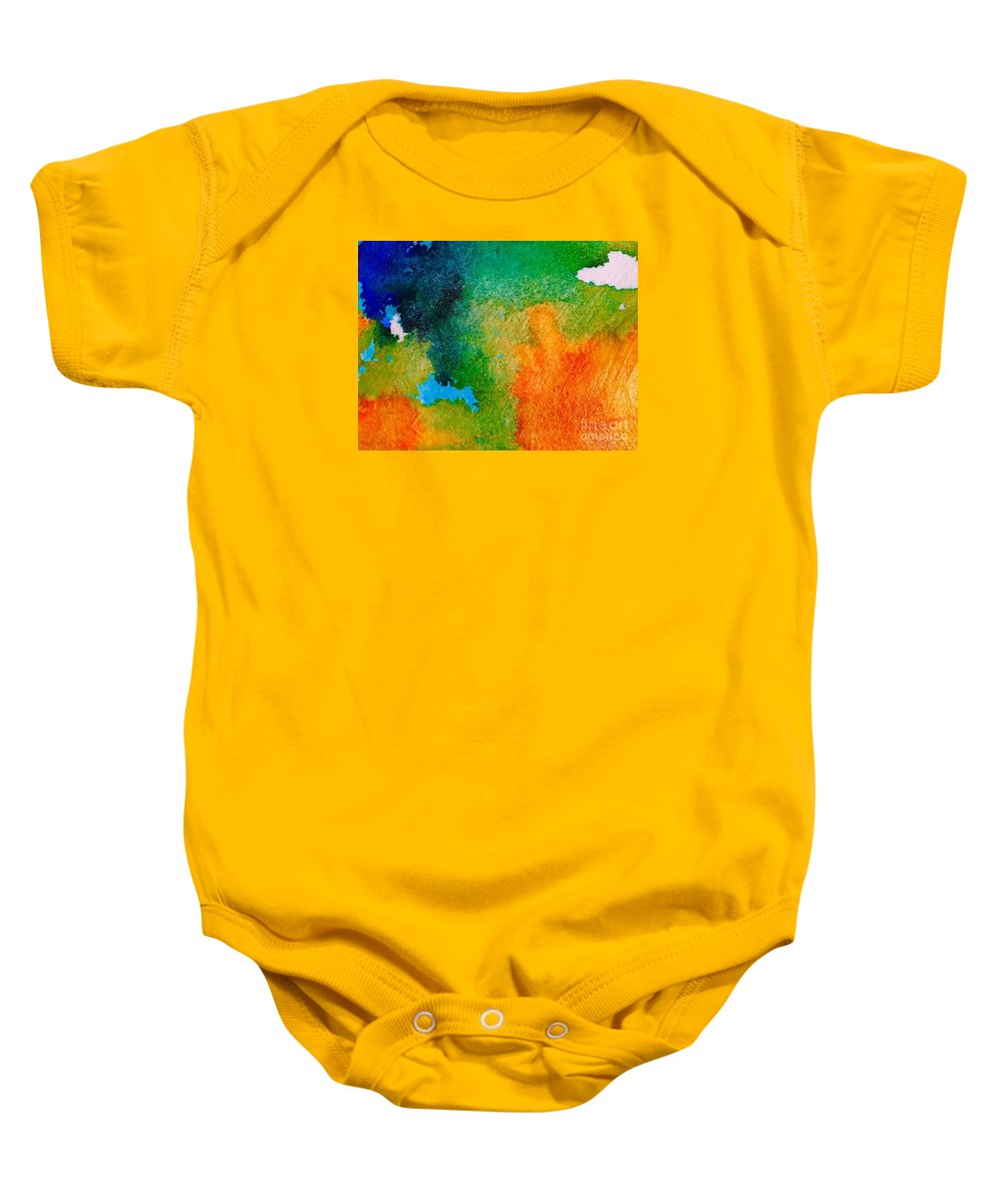 Abstract Baby Onesie featuring the painting Abstract 6 by Cristina Stefan