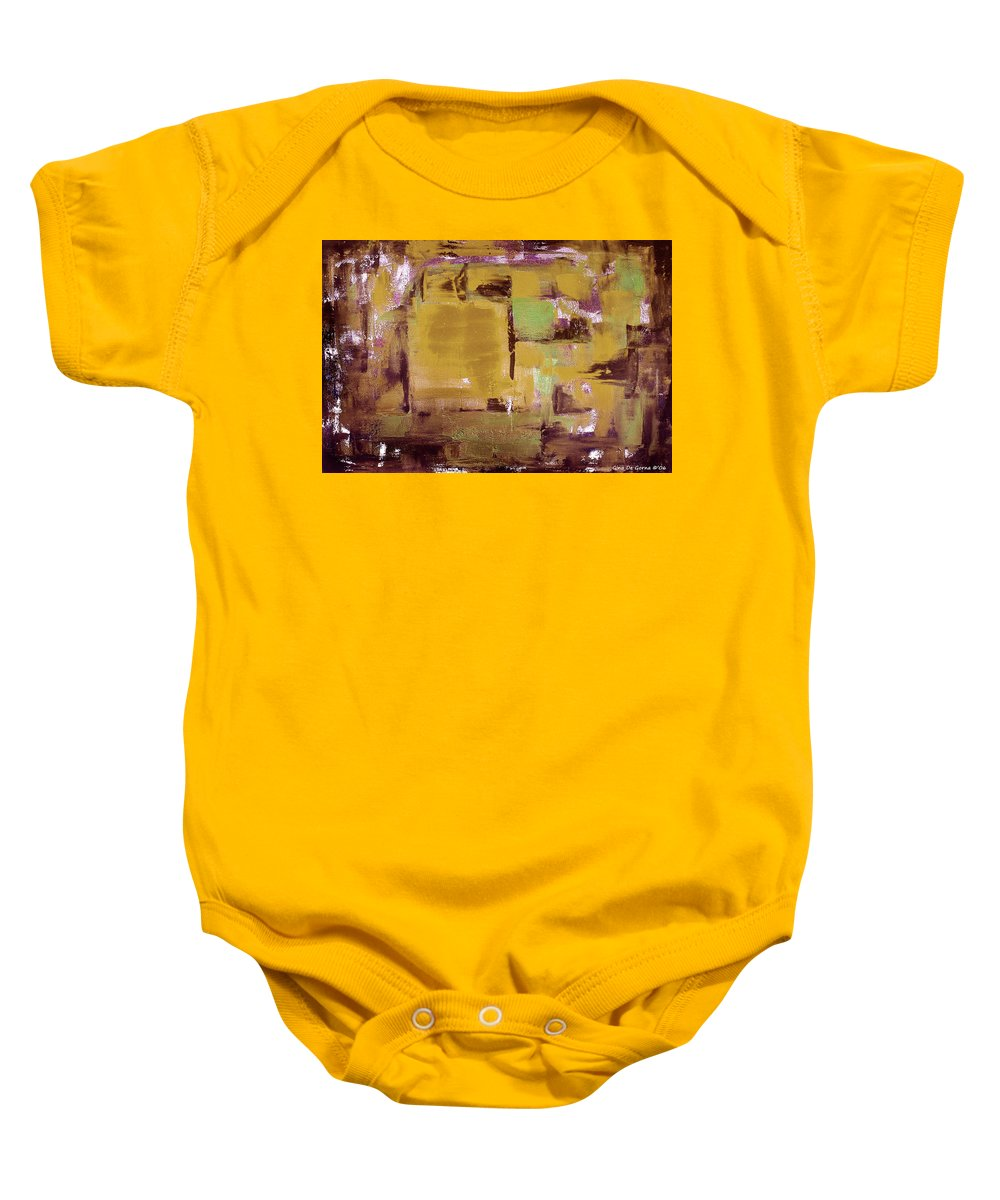 Abstract Baby Onesie featuring the painting Abstract by Gina De Gorna