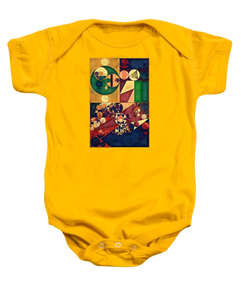 Futuristic Baby Onesie featuring the digital art Abstract Painting - Cherokee by Vitaliy Gladkiy