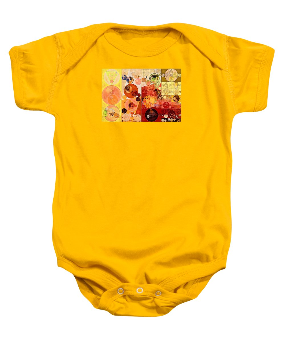 Draft Baby Onesie featuring the digital art Abstract Painting - West Side by Vitaliy Gladkiy