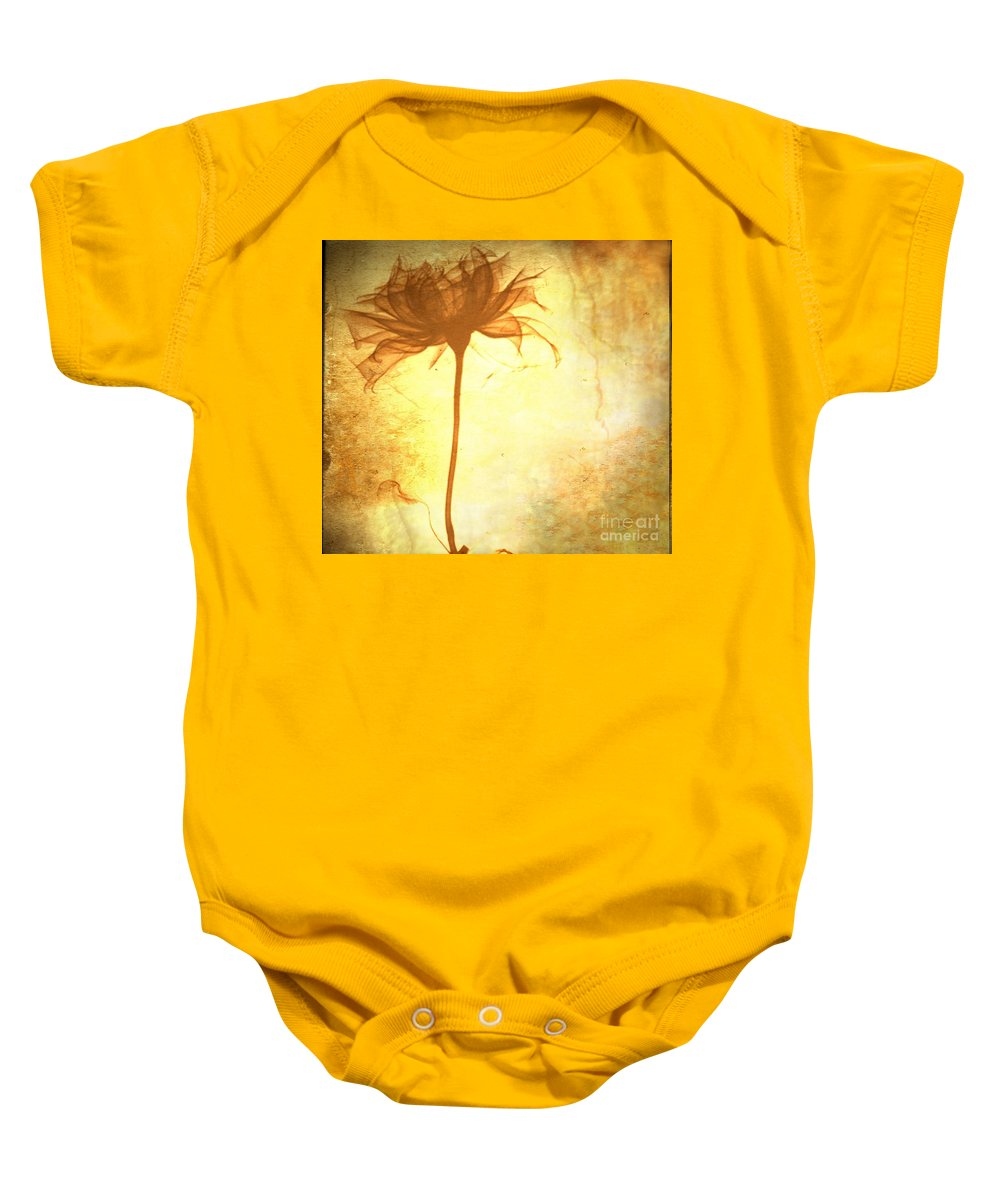 Flower Baby Onesie featuring the painting Against All Odds by Jacky Gerritsen