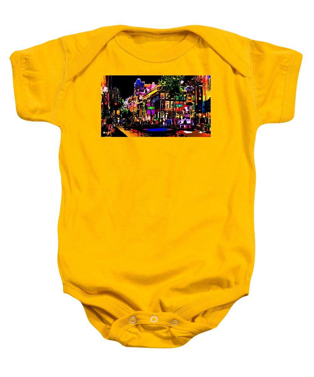 World's Baby Onesie featuring the digital art Alien Night Out by Ron Fleishman