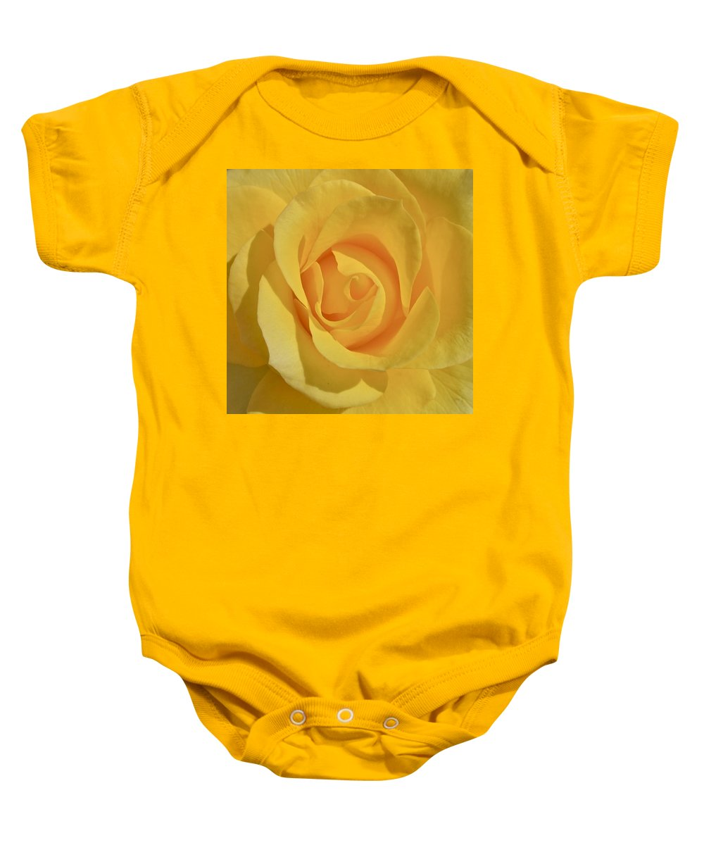 Photograph Or Yellow Rose Baby Onesie featuring the photograph Amarillo by Gwyn Newcombe