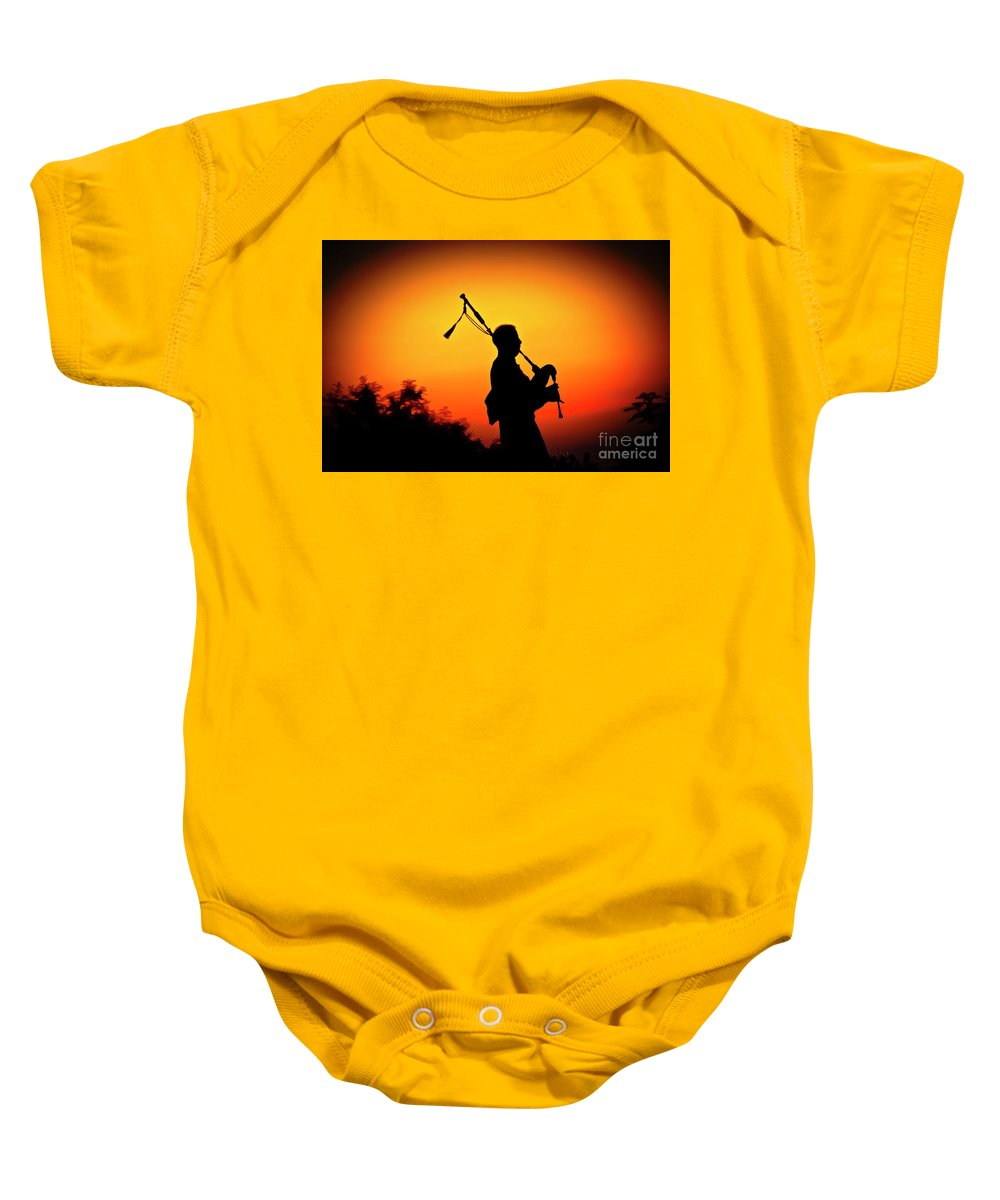 Sunset Baby Onesie featuring the photograph Amazing Grace by Jim Cazel