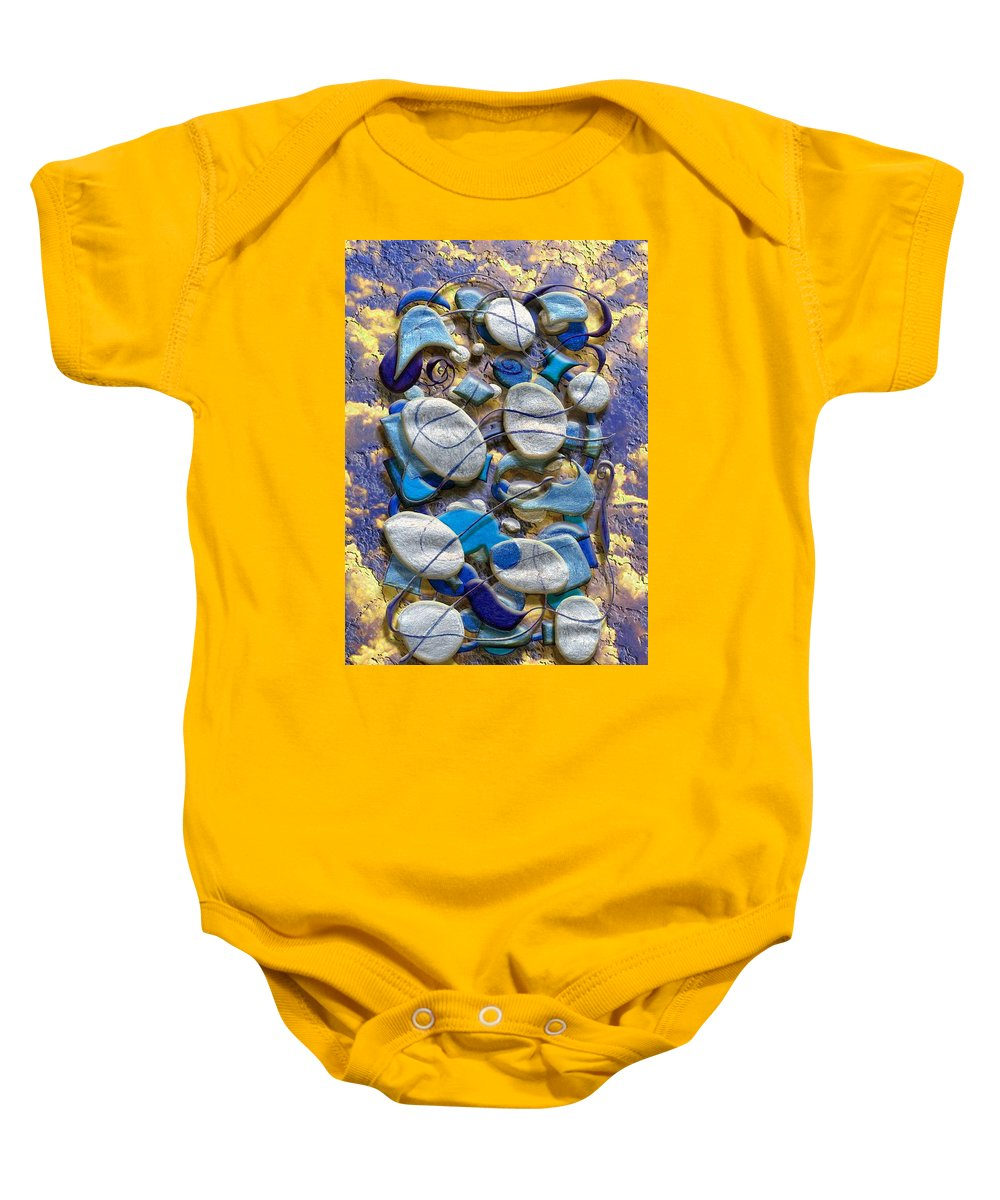 Abstract Baby Onesie featuring the digital art An Arrangement Of Stones by Mark Sellers