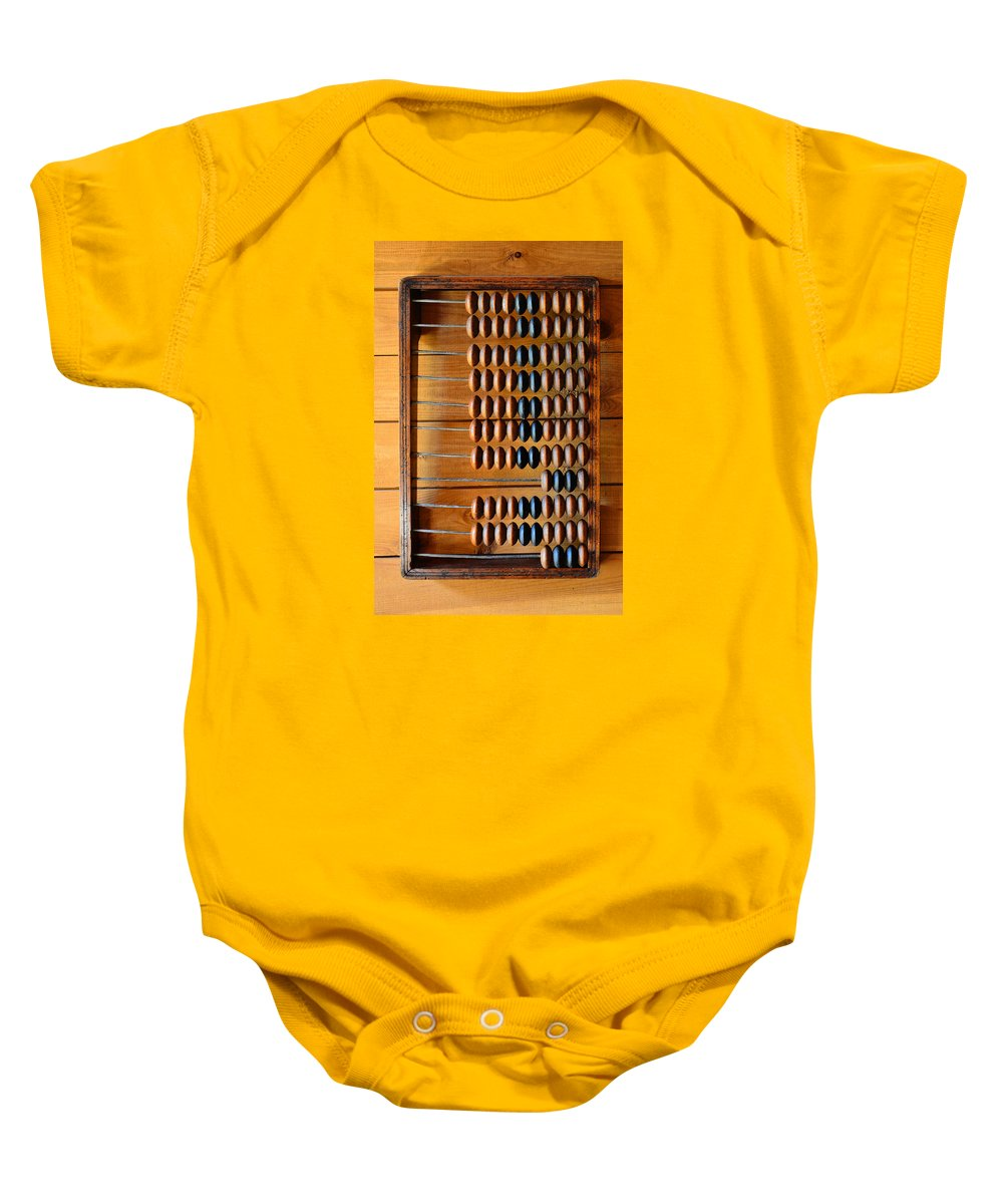 Ancient Computer Baby Onesie featuring the photograph Ancient Computer. by Andy Za