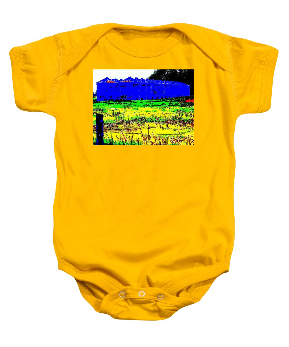 Landscape Baby Onesie featuring the photograph Andys Farm by Ed Smith