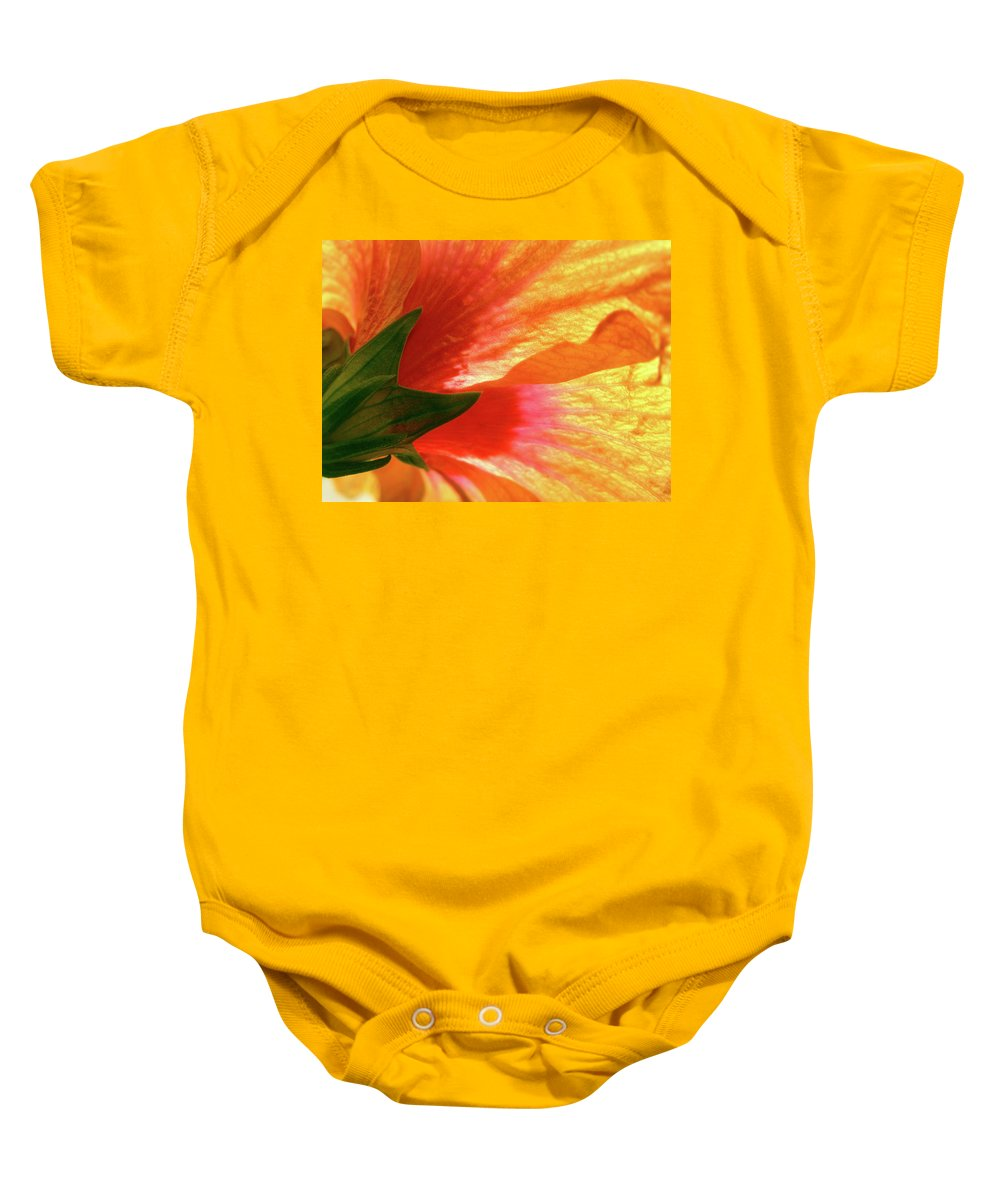 Hibiscus Baby Onesie featuring the photograph Angel Brushstrokes by Marie Hicks