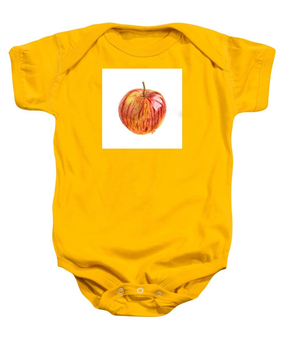 Apple Baby Onesie featuring the painting Apple by Swati Singh
