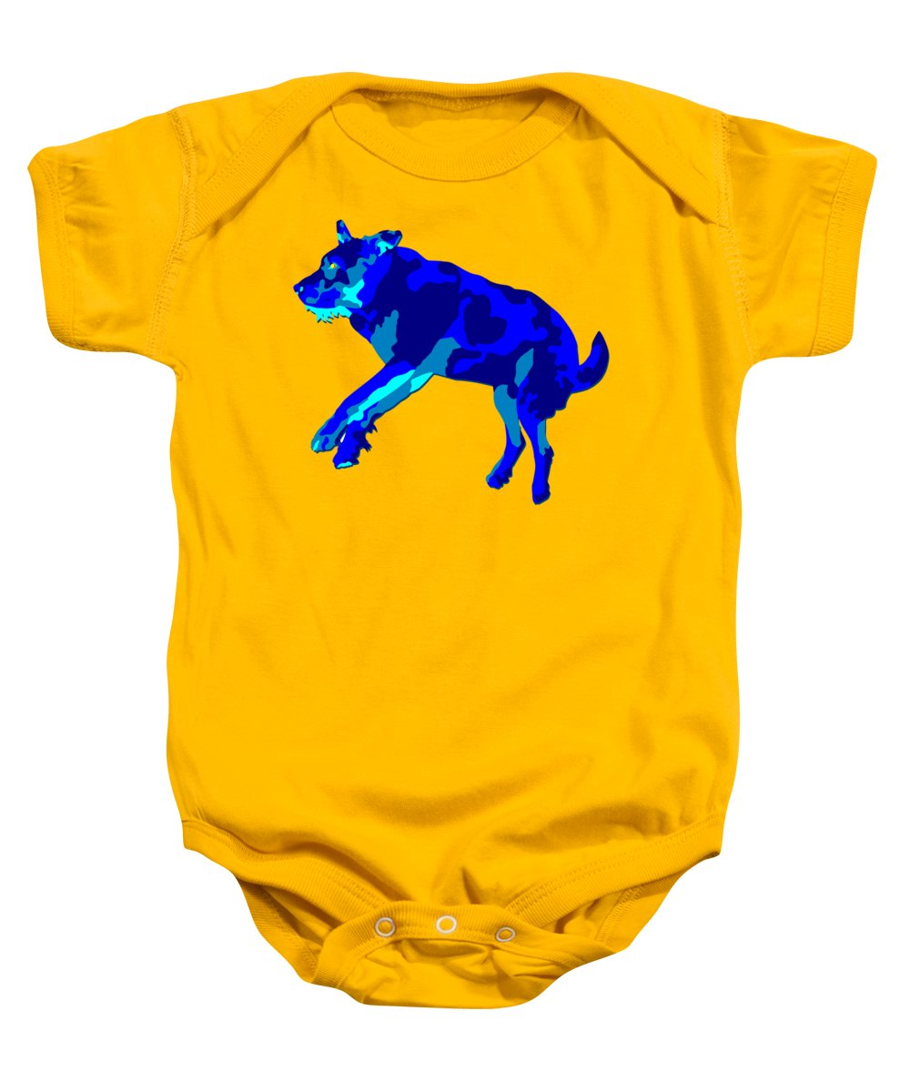 Dog Baby Onesie featuring the digital art Caper by John Berndt