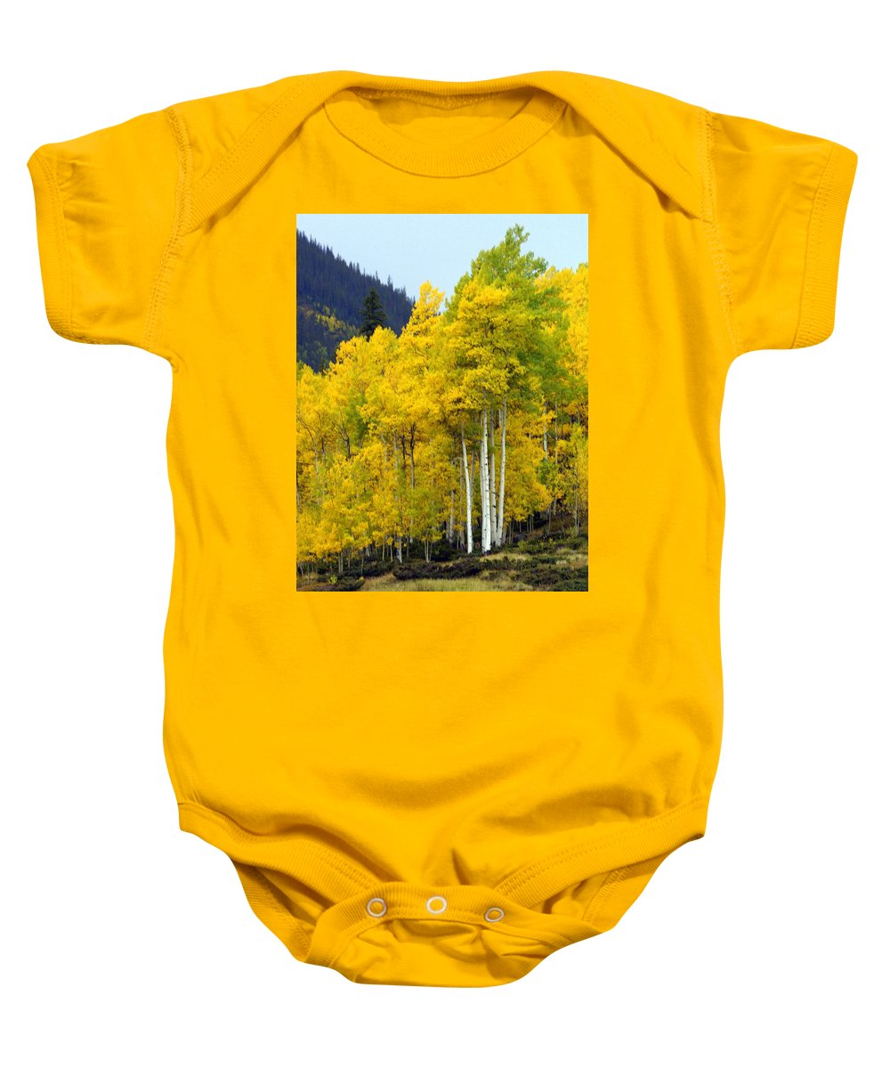 Fall Colors Baby Onesie featuring the photograph Aspen Fall by Marty Koch