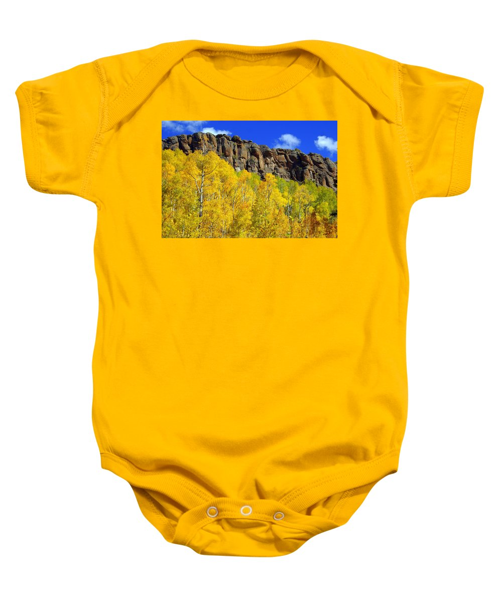 Fall Colors Baby Onesie featuring the photograph Aspen Glory by Marty Koch