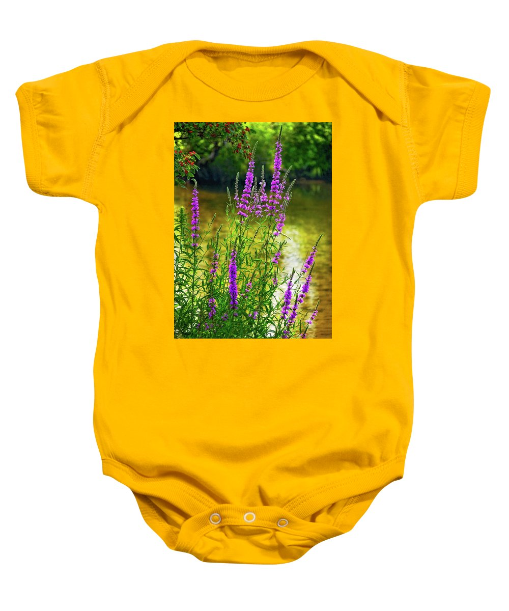Wildflower Baby Onesie featuring the photograph Aspirations by Steve Harrington