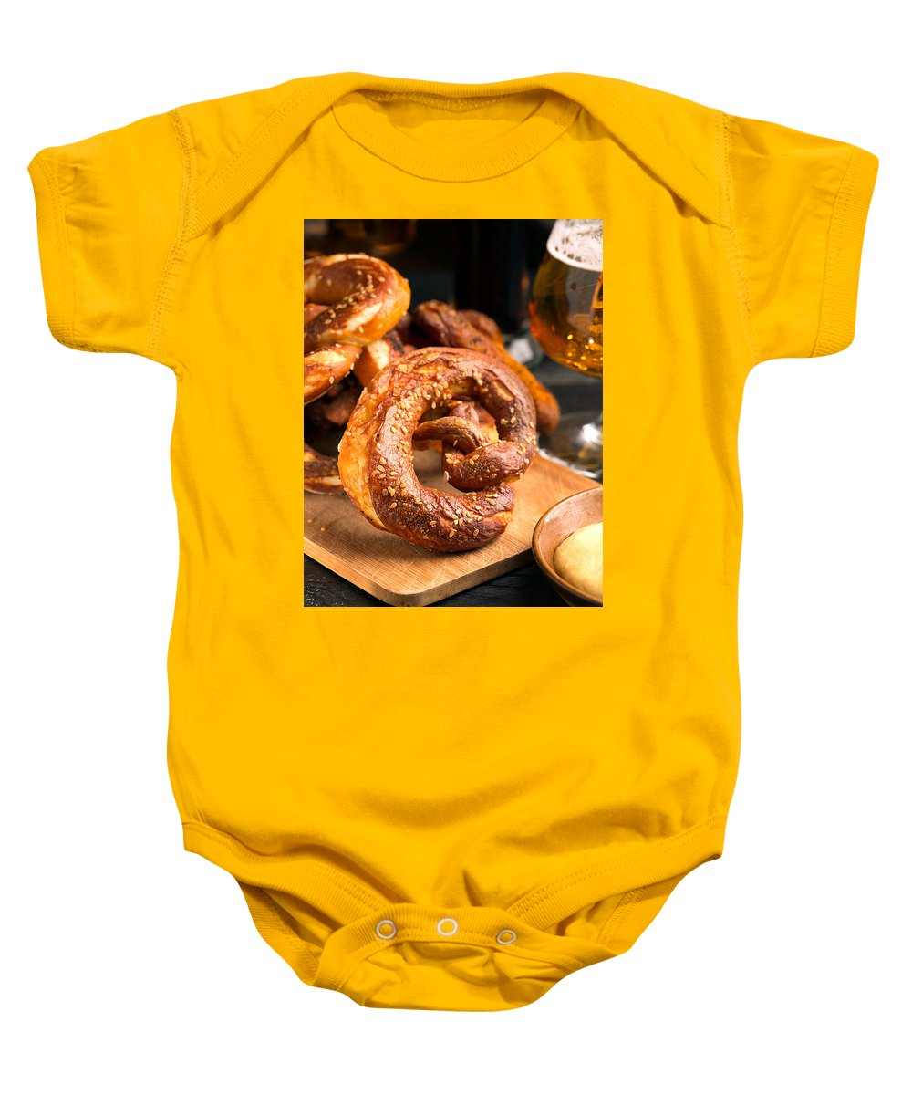 Vadim Goodwill Baby Onesie featuring the photograph At The German Pub by Vadim Goodwill