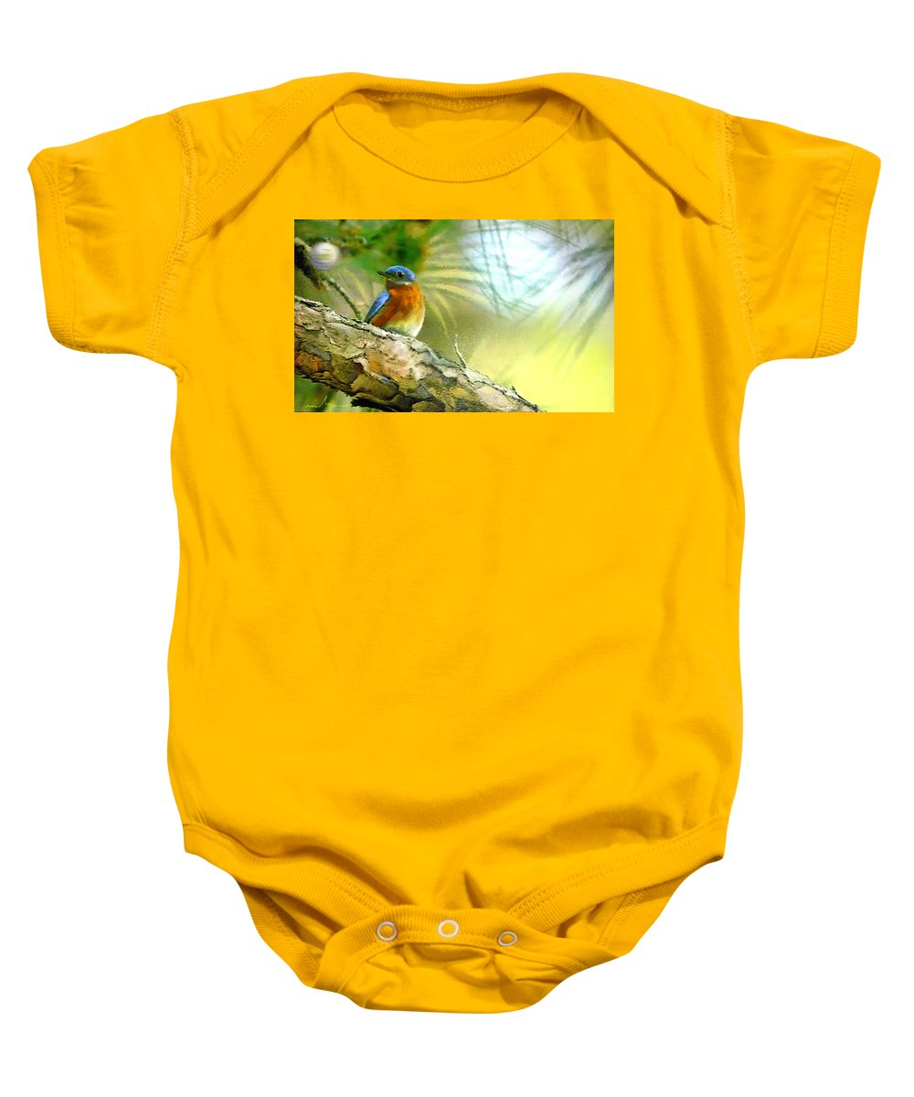 Golf Baby Onesie featuring the painting Augusta Masters 2010 05 by Miki De Goodaboom