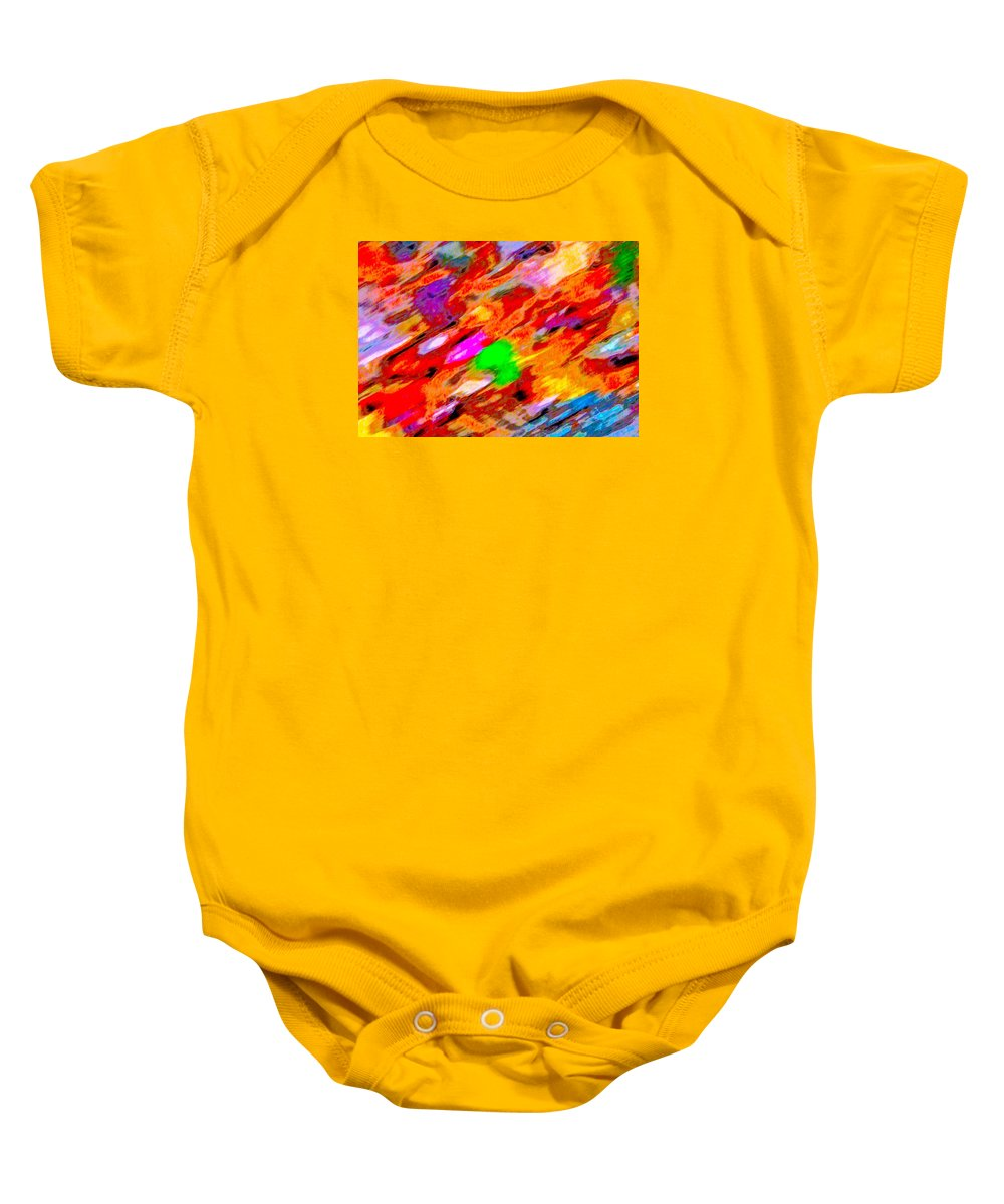 Autumn Color Blurs Baby Onesie featuring the photograph Autumn Color Blurs 144 by George Ramos