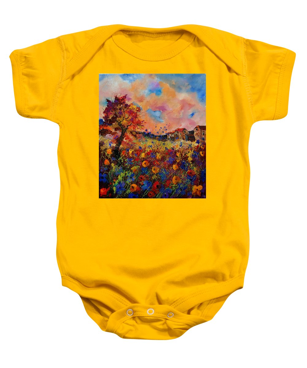 Poppies Baby Onesie featuring the painting Autumn Colors by Pol Ledent