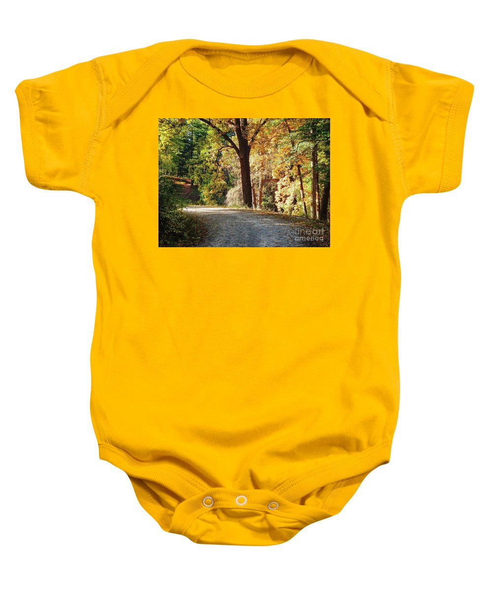 Ann Arbor Baby Onesie featuring the photograph Autumn In Michigan by Phil Perkins