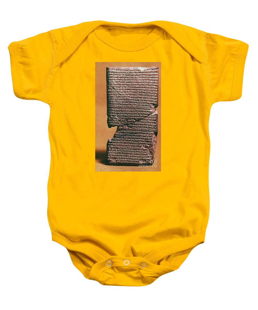 612 B.c. Baby Onesie featuring the photograph Babylonian Clay Tablet by Granger