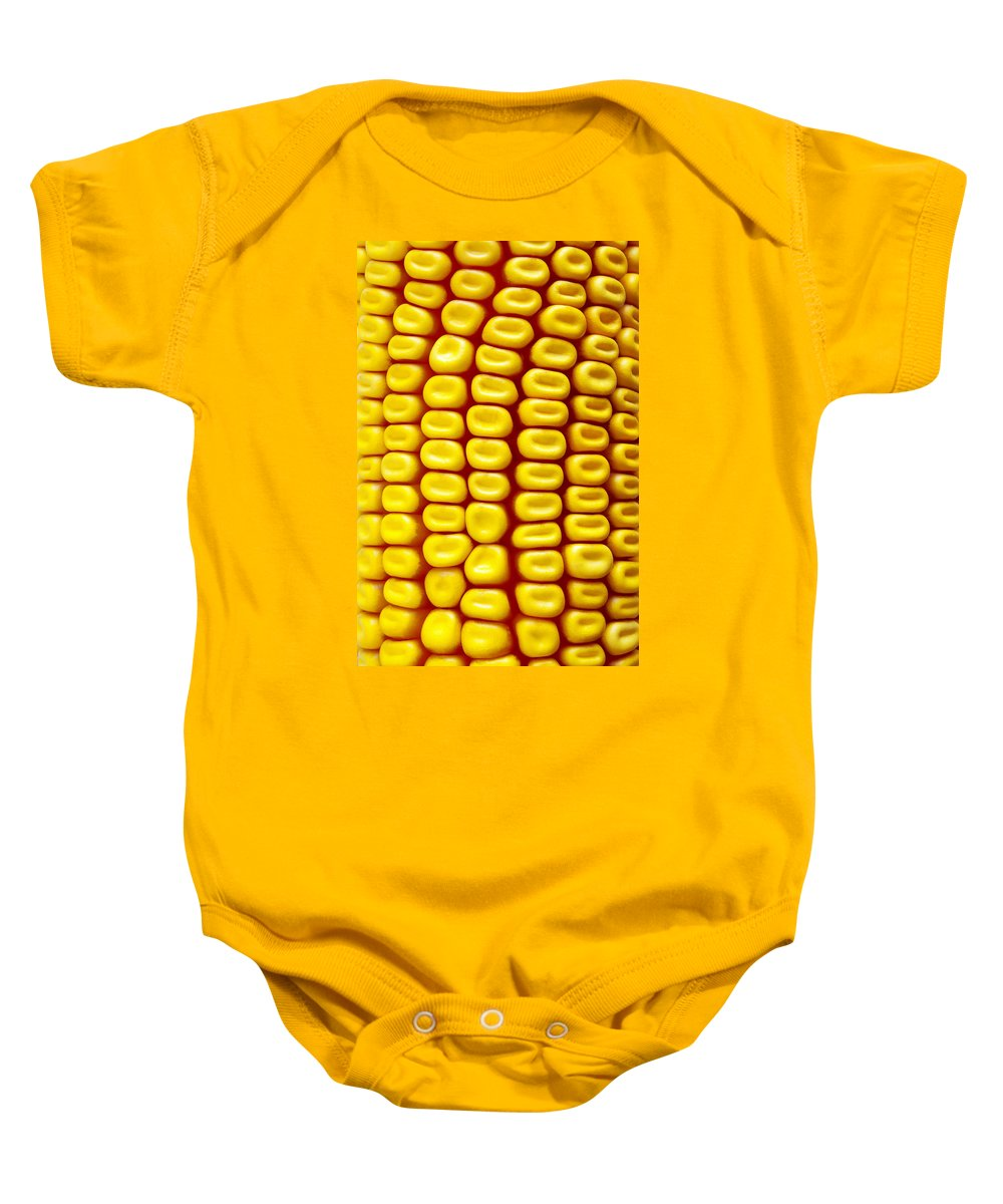 Abstract Baby Onesie featuring the photograph Background Corn by Carlos Caetano