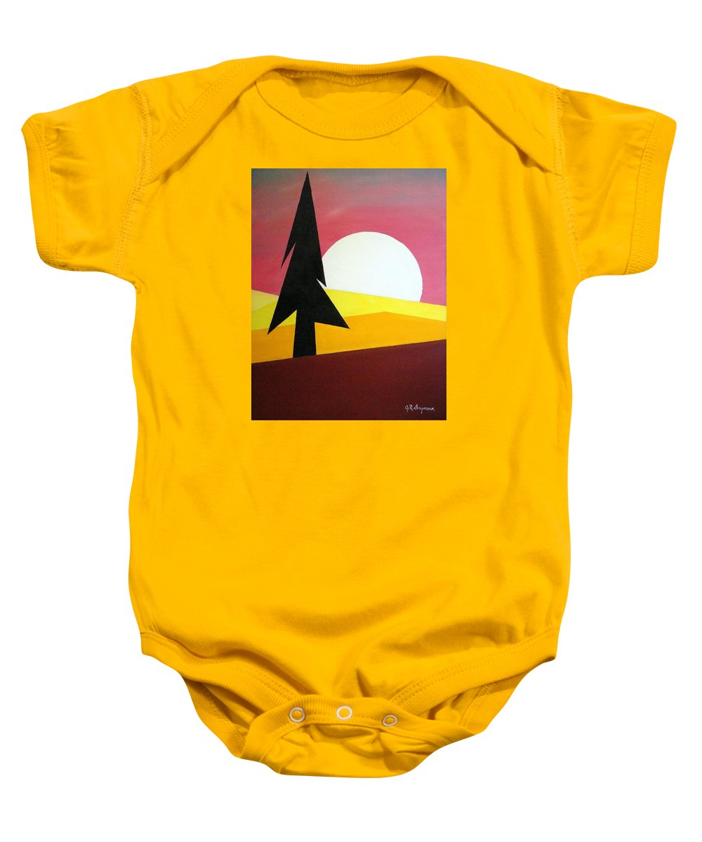 Phases Of The Moon Baby Onesie featuring the painting Bad Moon Rising by J R Seymour
