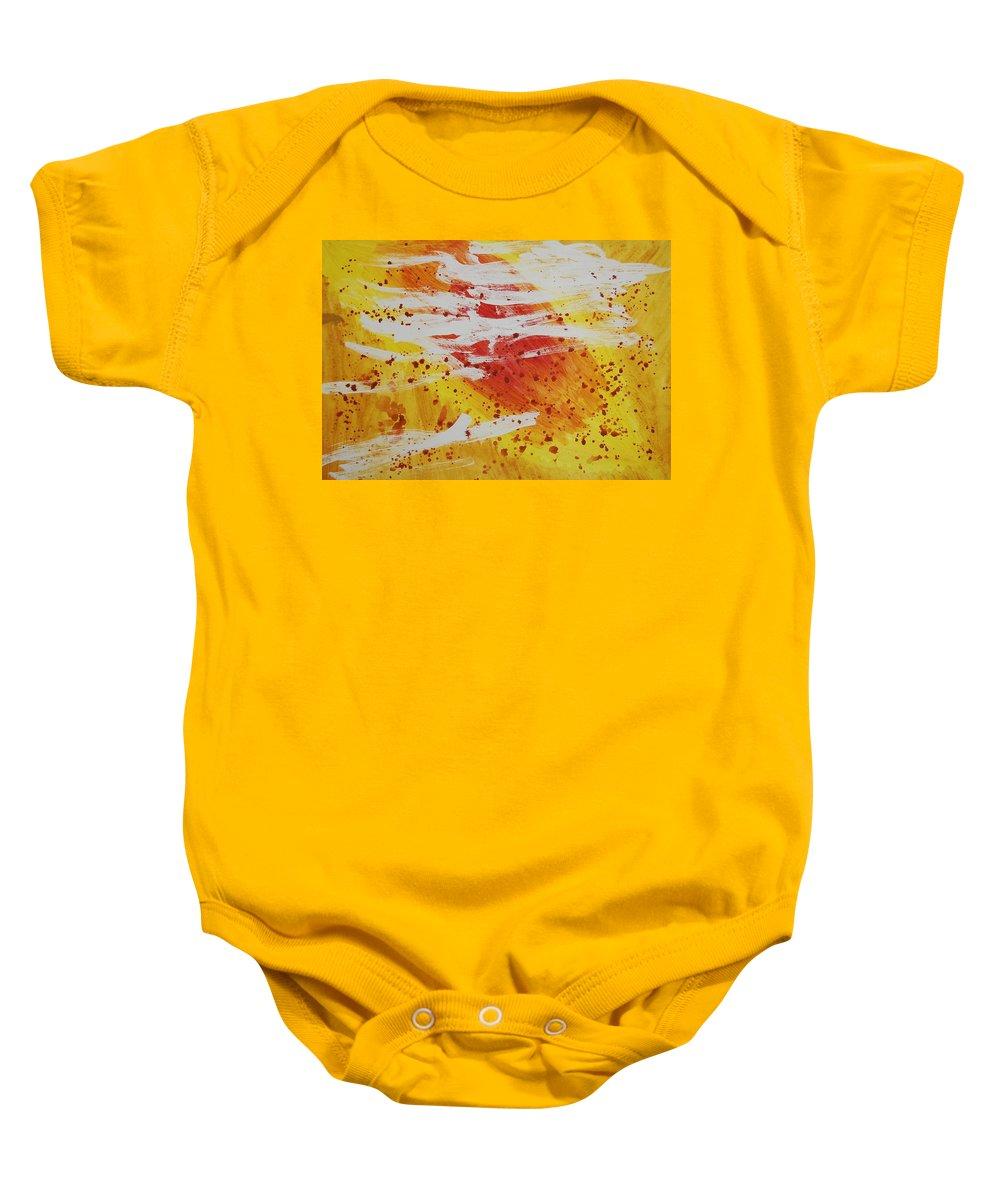 Abstract Baby Onesie featuring the painting Bailando En El Sol by Lauren Luna
