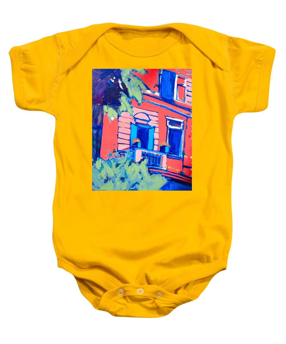 Balcony Baby Onesie featuring the painting Balcone by Kurt Hausmann
