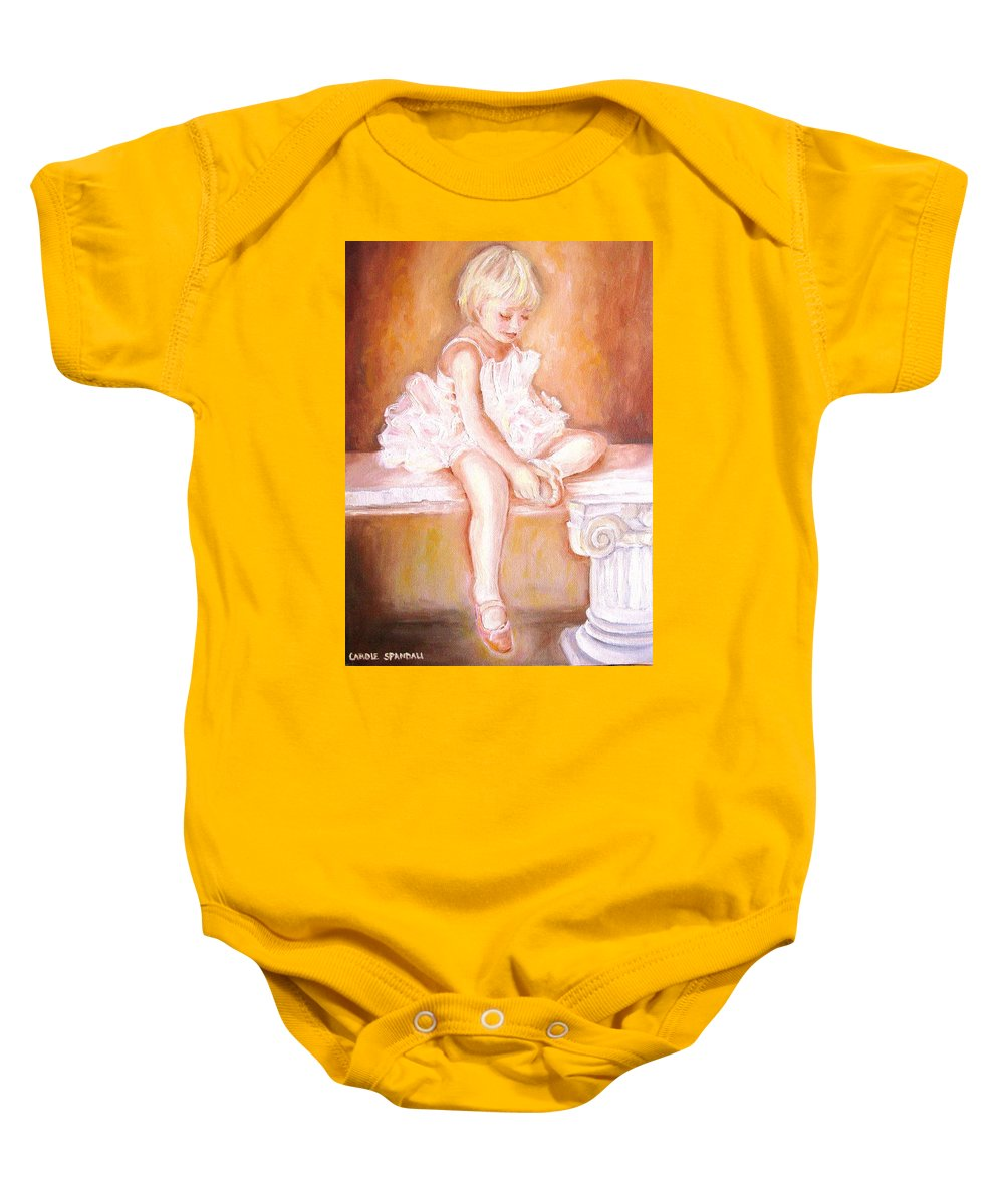 Ballerina Baby Onesie featuring the painting Ballerina by Carole Spandau